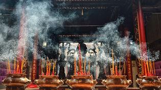 At a pagoda