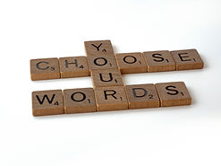 """Letter tiles spelling out """"Choose Your Words"""""""
