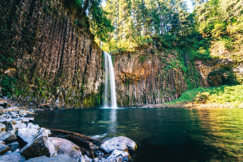 The Abiqua waterfall in Oregon