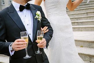 Hochzeit, Sekt, Sektempfang, Feier, married couple,Image by Jason Briscoe