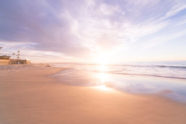Picture of Sunset at Beach with Sand