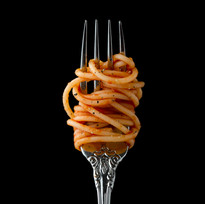 Fork with pasta