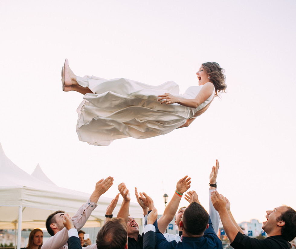 Flying bride