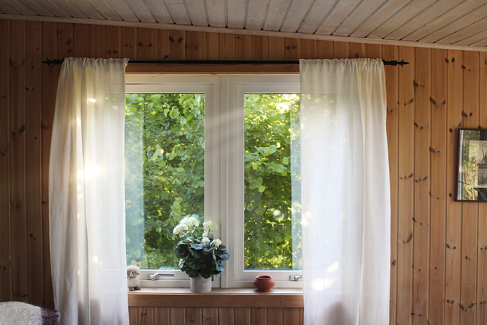 window with curtains at cedarwood