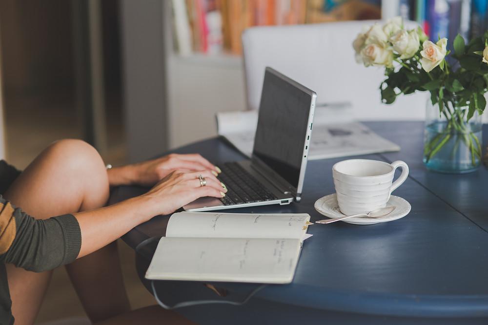 Woman on Laptop Swoop Marketing