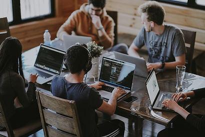 laptop, team, designers