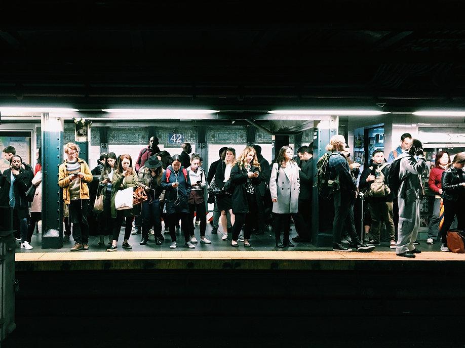 Crowded Transit Station
