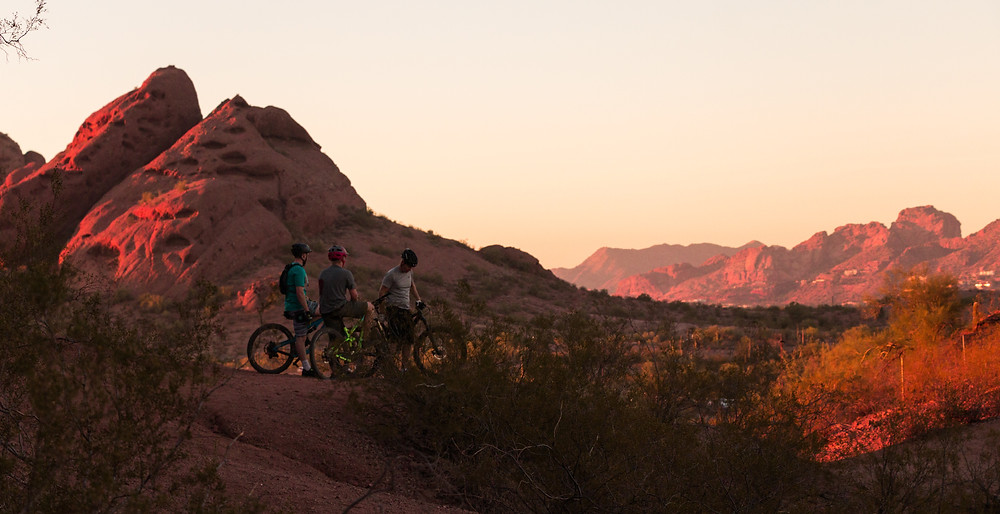 The best way to stay healthy while traveling is to bike or engage in thrilling activities