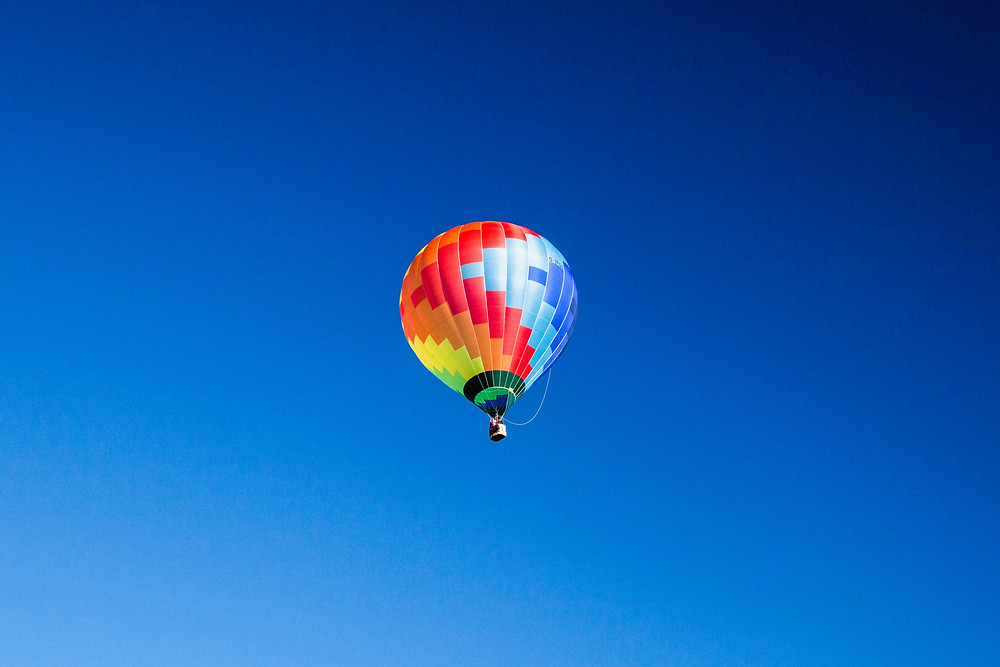 Ride in a tethered hot air balloon near your Leesburg rental