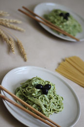 Pasta with Basil and Mascarpone M
