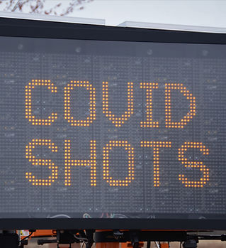"Anzeige mit dem Text ""Covid Shots"""