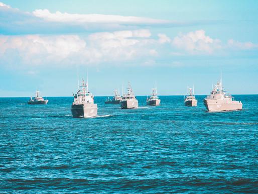 Indian Navy Warships Set Sail For South China Sea