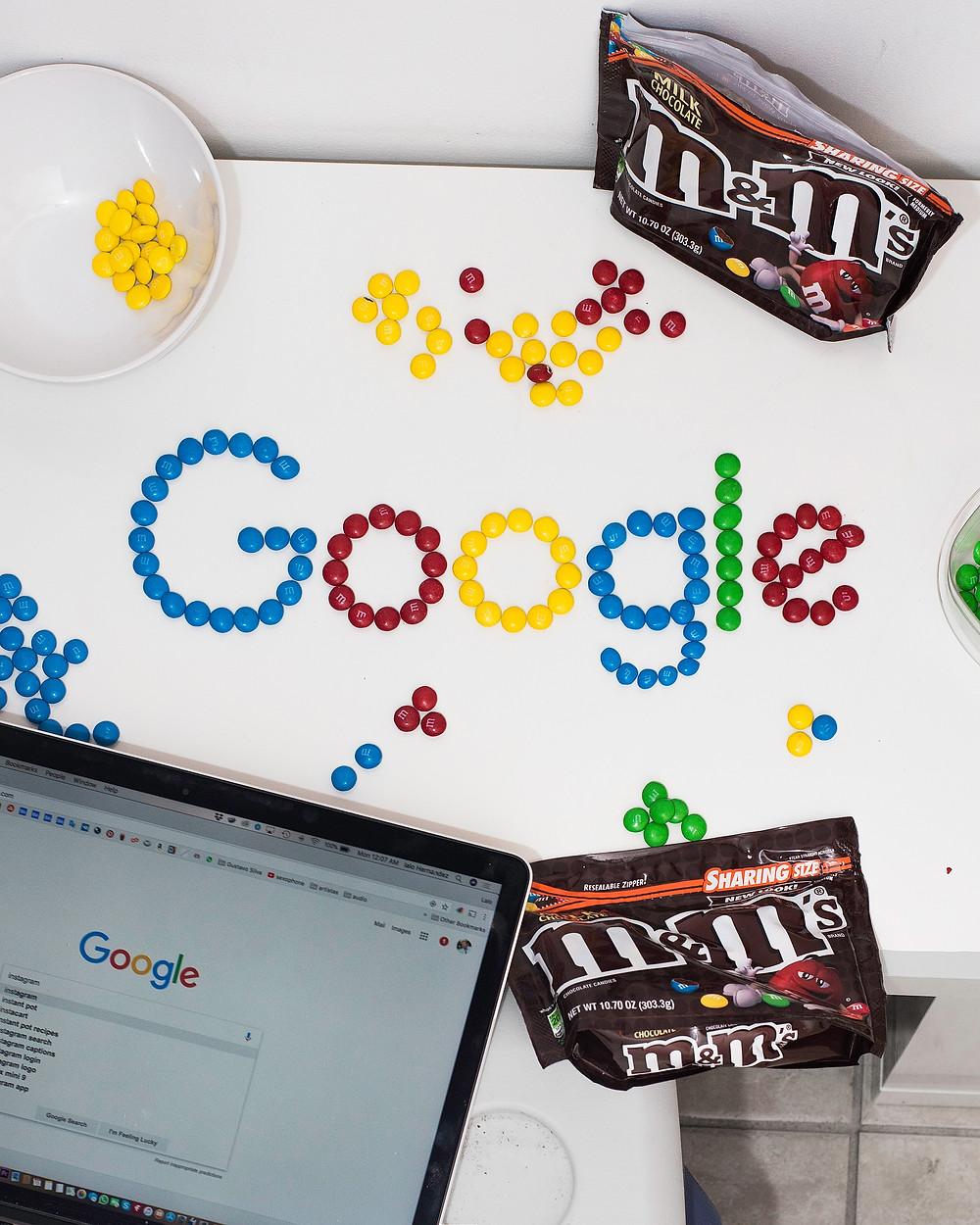 Google Logo, M&M candy