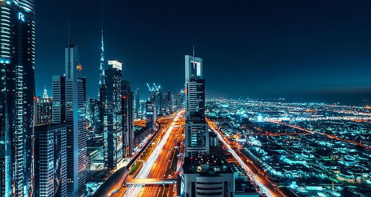 Cityscape image at night