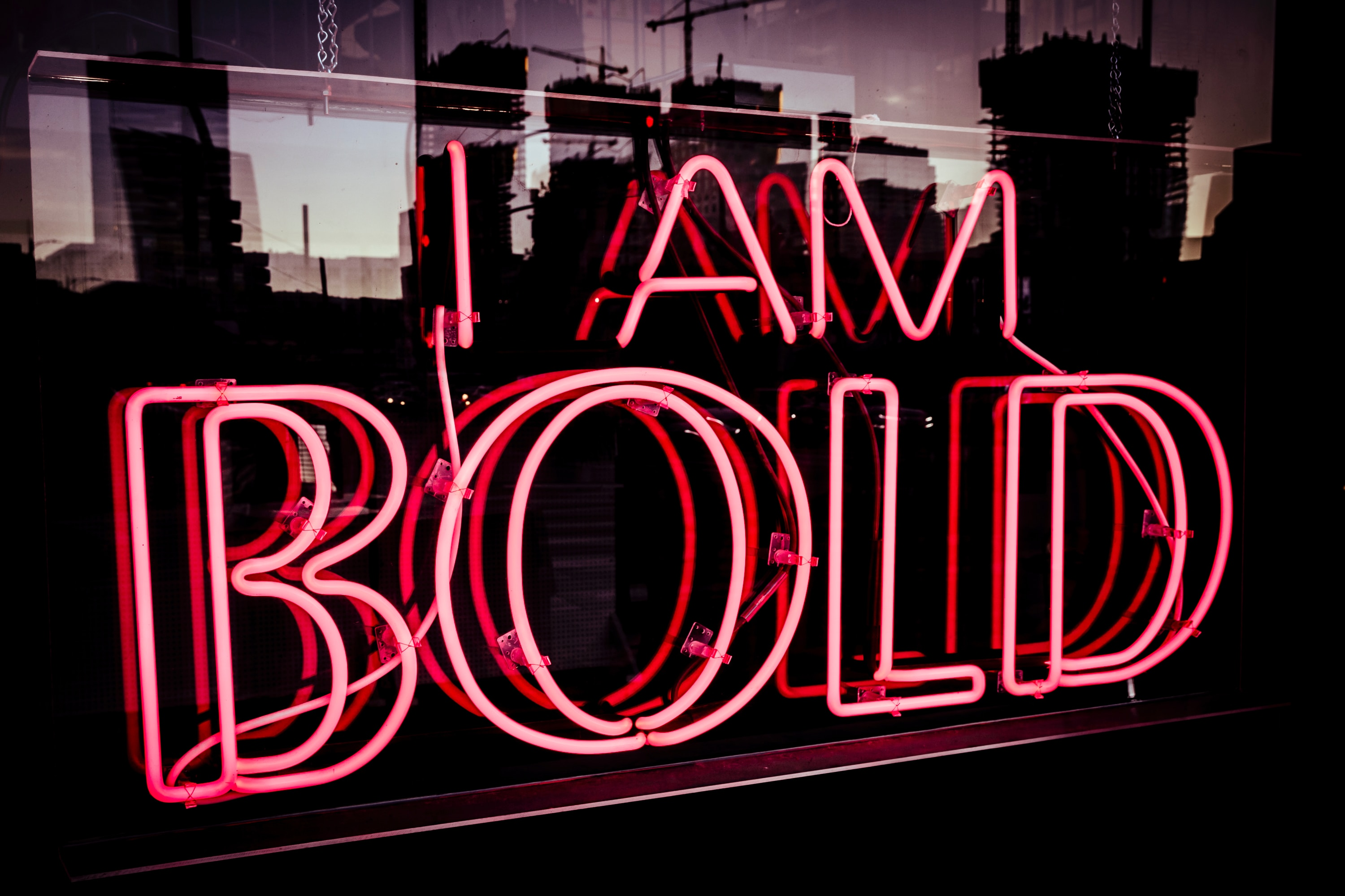 Being bold, brave and courageous