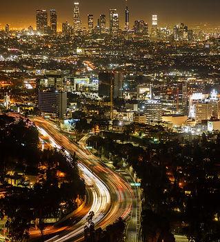 Los Angeles city lights at night