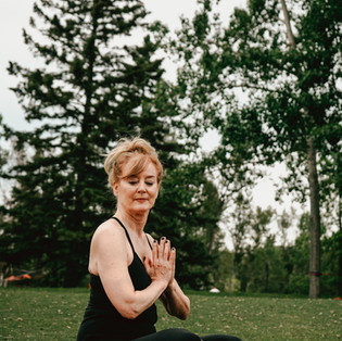 Yoga in the countryside