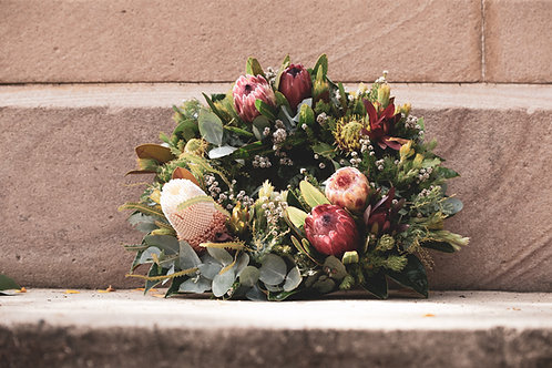 Wild Bunch of Spring Mother's Day Grave wreath