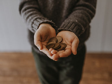 Hands saving money