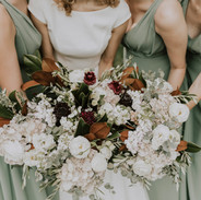 Brides and Bridesmaids floral bouquets