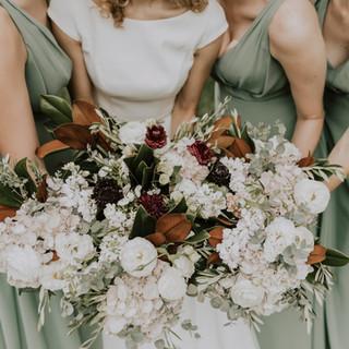 Brides and Bridesmaids floral bouquets