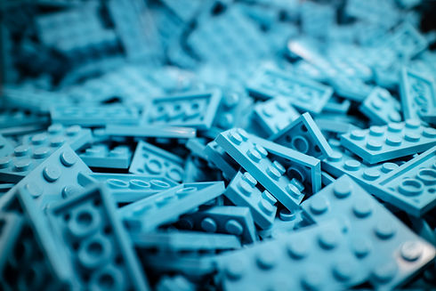 Image of blue lego. Position yourself for success with a professional career life coach.