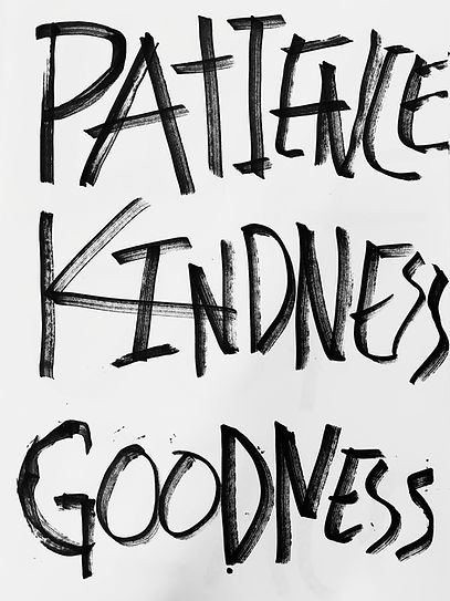 PATIENCE KINDNESS GOODNESS