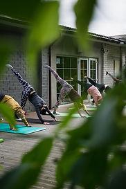 Group of ladies doing Pilates Online