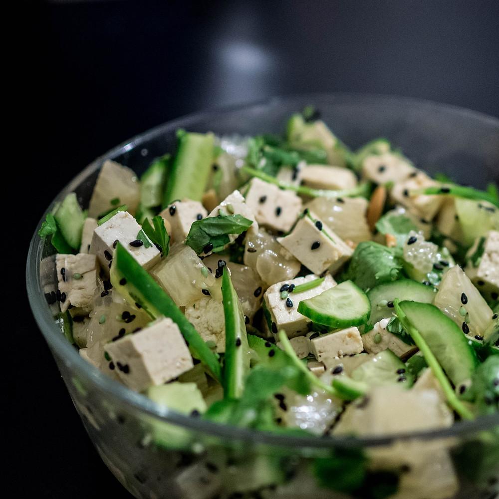 recette tofu salade