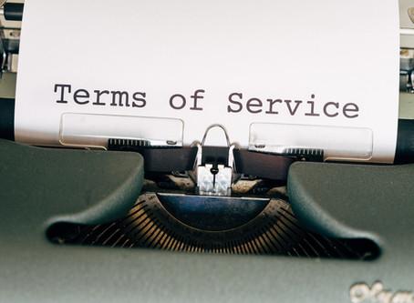 ניסוח תנאי שימוש ומדיניות פרטיות לאתר אינטרנט