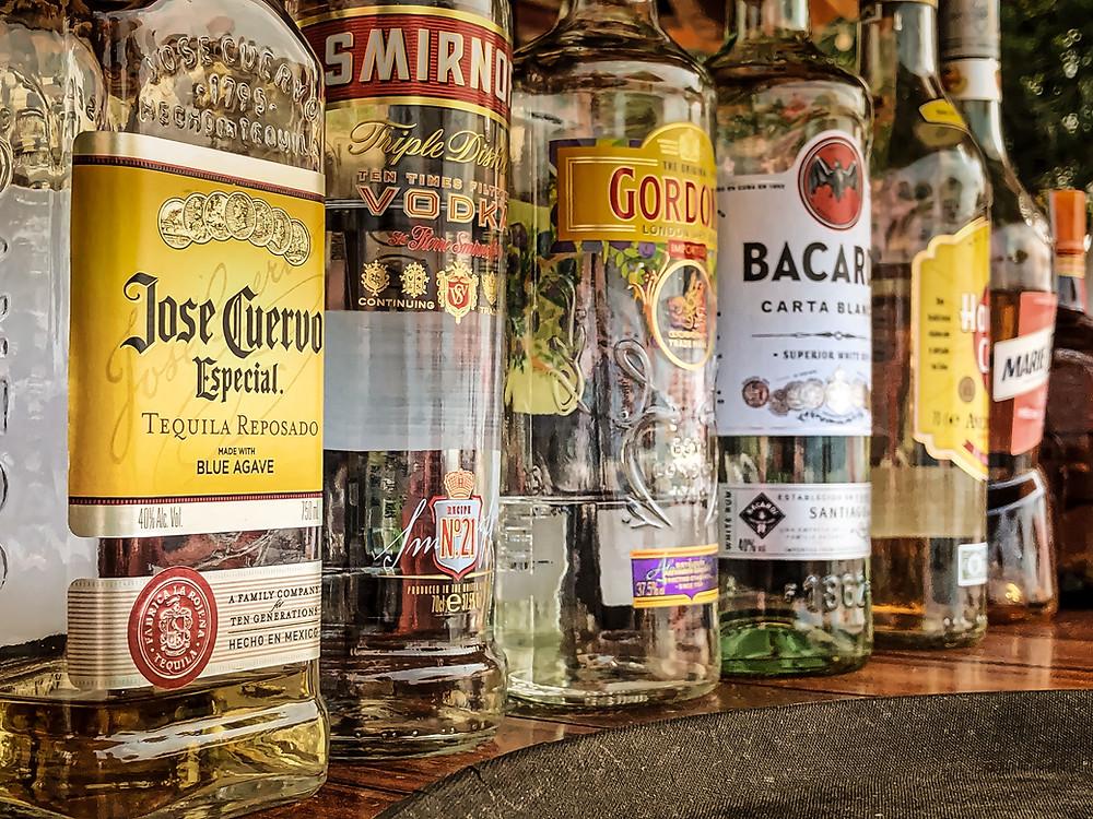 Bouteilles d'alcool à livrer
