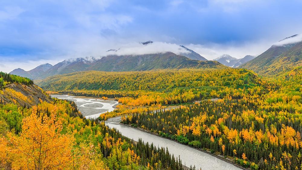 Wilderness Mountains in Alaska