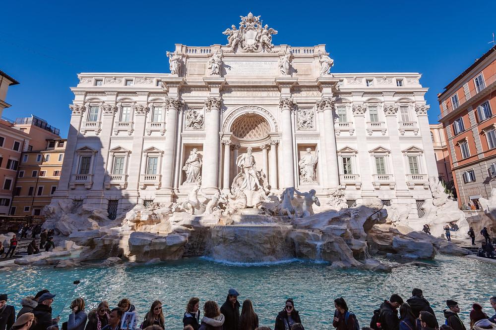 Fontana de Trevi em Roma