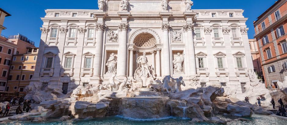 A exuberante fonte dos desejos em Roma