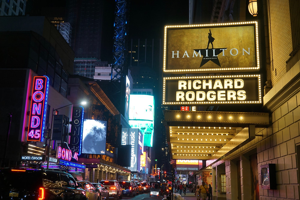 broadway-theater-with-hamilton-sign