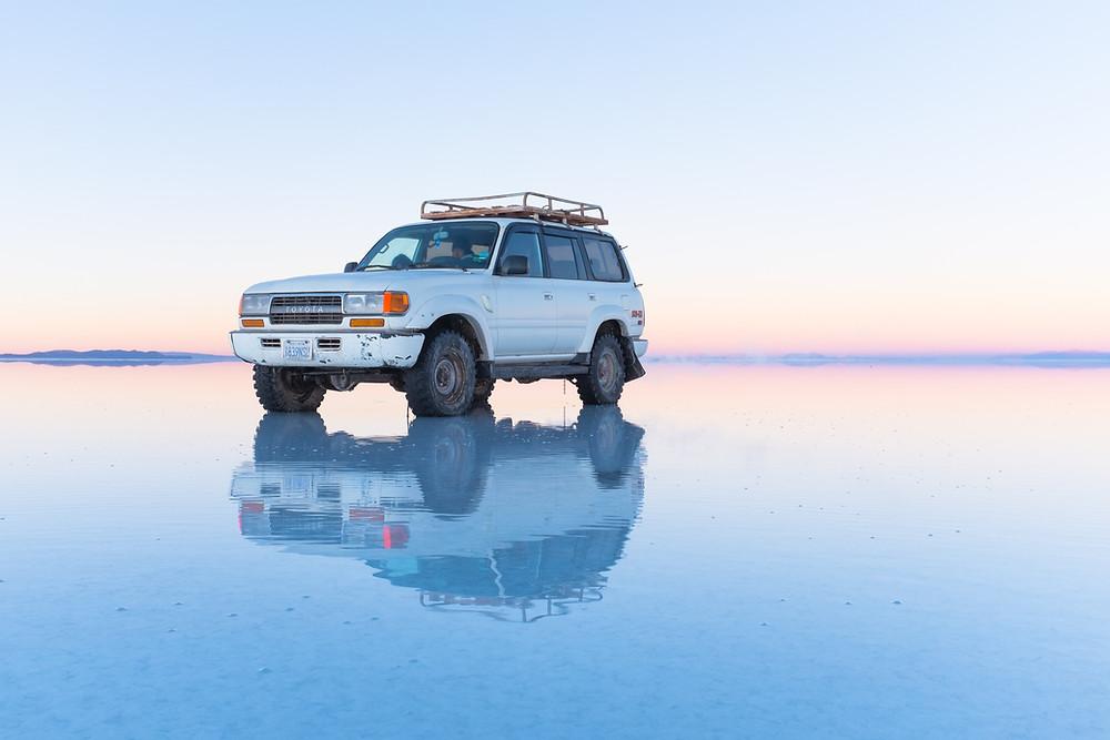 Salar de Uyuni is the world's largest salt flat