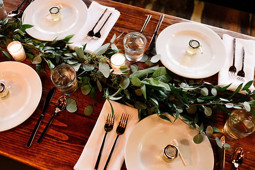 Table with Greenery