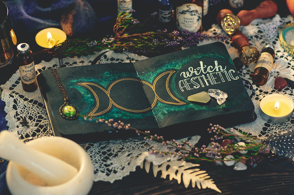 A altar that has a favorite book or guidance tools creates enpowerment and inspiration for the witch to gain from the daily practice and interacting with things they enjoy.