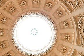 Stone ceiling decorations restored