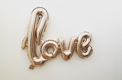 "40"" Love Script Balloon"