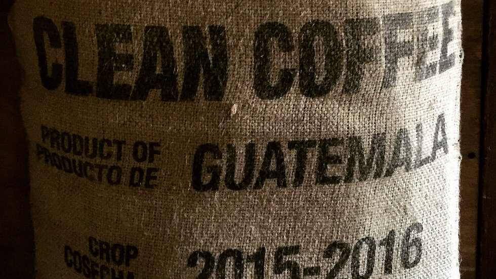 Bag of Guatemalan coffee