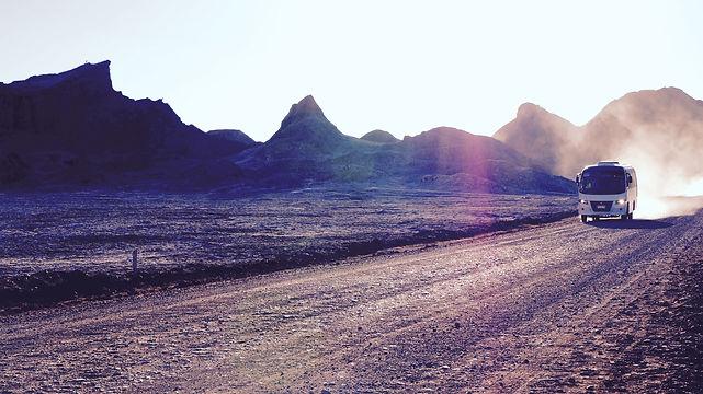 Bus san de pedro de atacama au salar d'Uyuni Bolivie