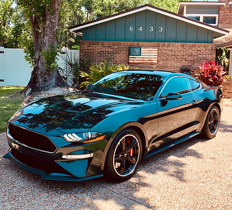 Black mustang detailing service at Flawless finish