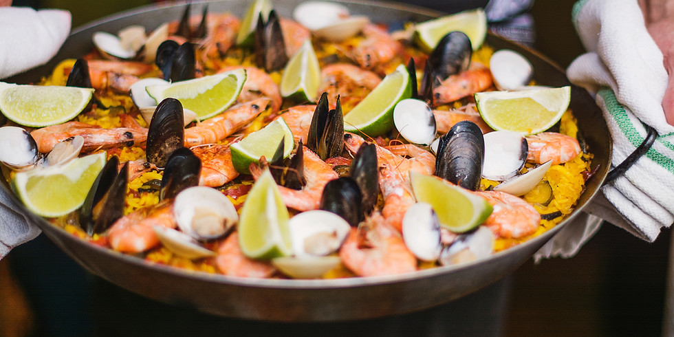 Fresh Cooked Paella with Chef Brandon