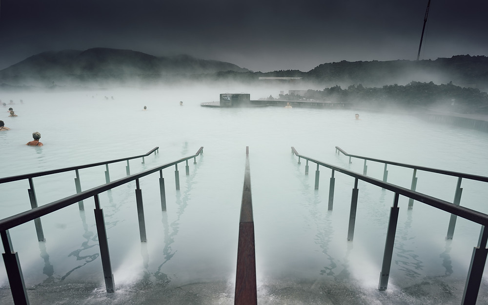 Entrance into the Blue Lagoon in Iceland