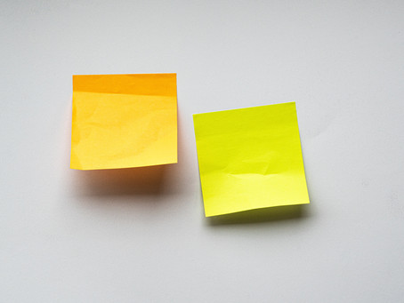 How to keep the older adult on track with sticky notes