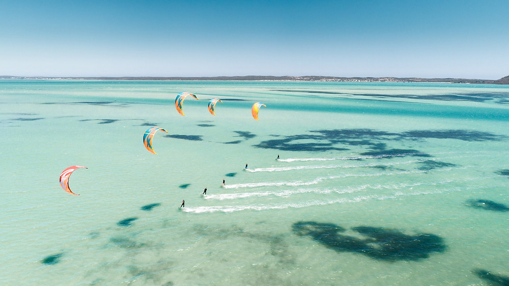 Kitesurfing in Langebaan