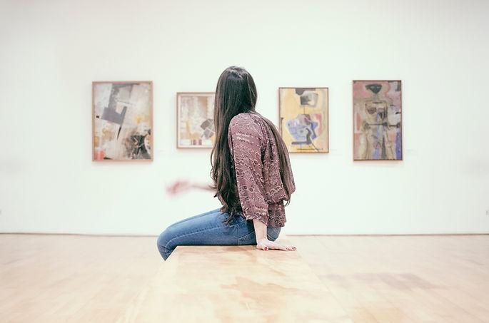 gallery, artist, curator, examining, looking, seeing, artwork, study, curiosity