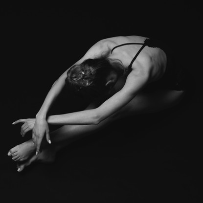 Ballet dancer in forward bend