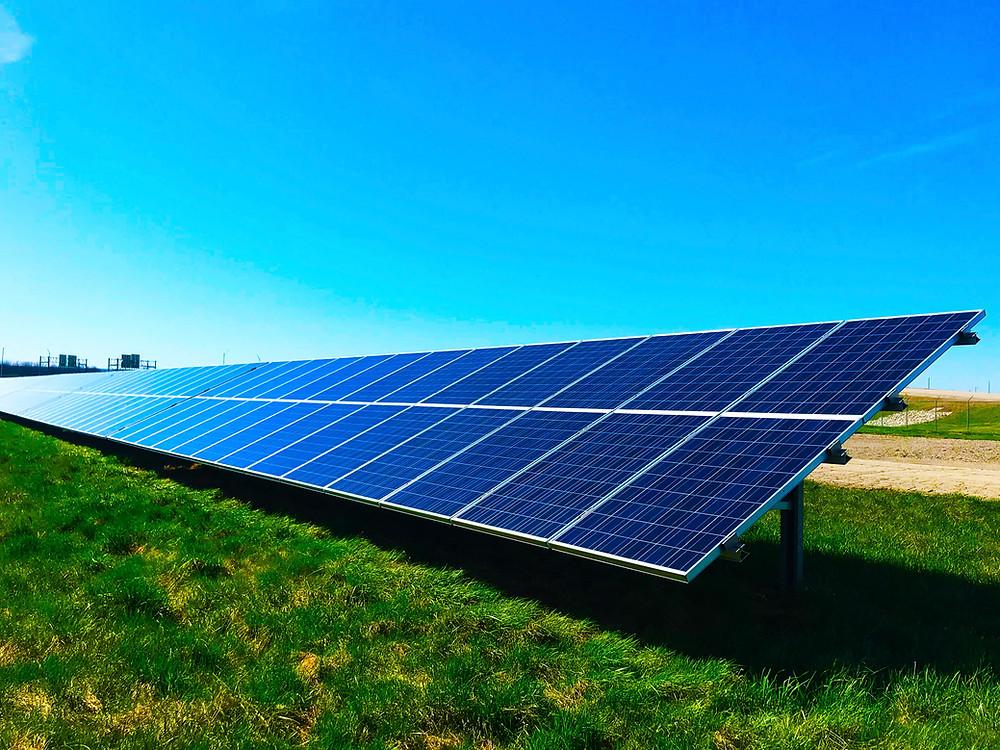 Solar panel under the sun